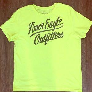 Men's neon green American Eagle T-shirt